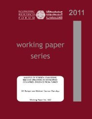 evidence from turkey - Economic Research Forum