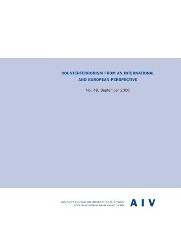 counterterrorism from an international and european perspective