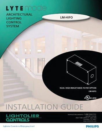 LM-HIFO - Philips Lighting Controls