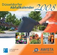 Düsseldorfer Abfallkalender 2008 - Stadt Düsseldorf
