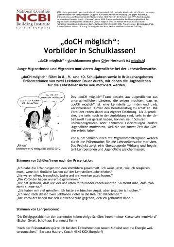 Flyer Bern - Lehrstellenboerse.ch Blog