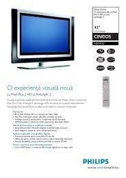 42PF9730/10 Philips TV panoramic plat cu Pixel Plus 2 HD şi canal ...