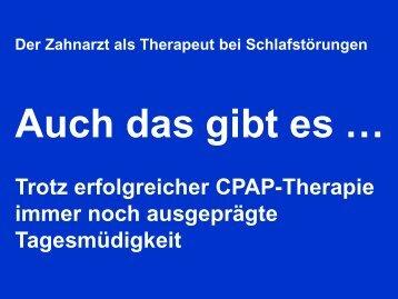 Erfolgreiche nächtliche Maskenbeatmung (CPAP-Therapie)