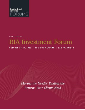 Finding the Returns Your Clients Need - iiforums.com