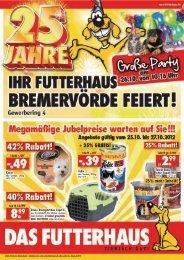 Regionaler Handzettel FH 654 Bremervoerde - Das Futterhaus