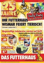 Regionaler Handzettel FH 1424 Wismar - Das Futterhaus