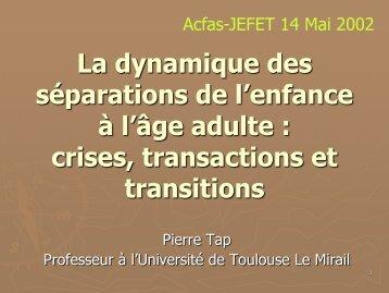 Diapositive 1 - Pierre TAP