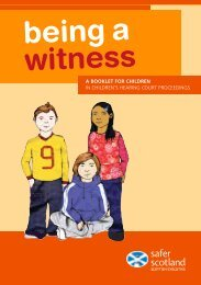 being a witness - Scottish Children's Reporter Administration