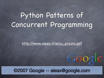 Python Patterns of Concurrent Programming