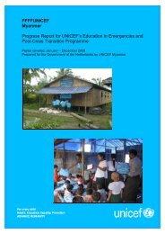 Myanmar Progress Report