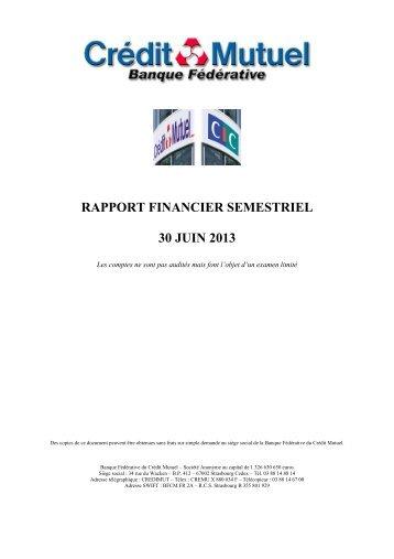 Juin 2013 - Banque Fédérative du Crédit Mutuel