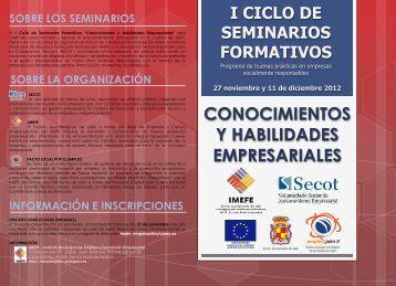 folleto i ciclo seminarios formativos - Ayuntamiento de Jaén