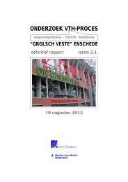 ONDERZOEK VTH-PROCES - Vereniging BWT Nederland