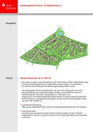 Neubaugebiet Preetz - Schwebstöcken II Baugebiet - Förde Sparkasse