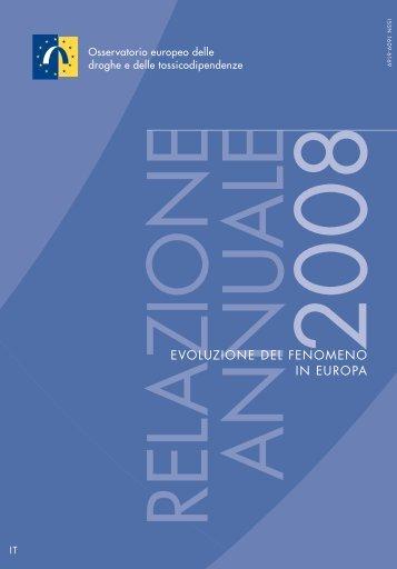 evoluzione del fenomeno della droga in Europa - EMCDDA