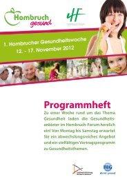 Programm Gesundheitswoche Hombruch - Stadt Dortmund