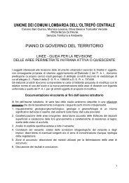 Linee guida - Unione dei Comuni Lombarda dell'Oltrepò Centrale