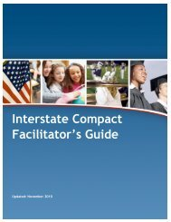 Interstate Compact Facilitator's Guide - Military K-12 Partners - DoDEA
