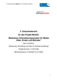 """2. Zwischenbericht für das Projekt ModUs: """"Modulares ... - CJD Bonn"""