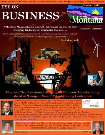 October 2012 EYE on Business - Montana Chamber of Commerce