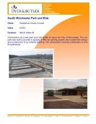 South Winchester Park and Ride - Dyer and Butler