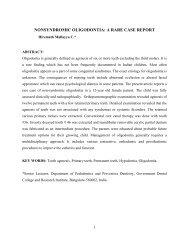 nonsyndromic oligodontia: a rare case report - Aosr.co.in
