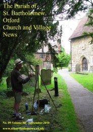 The Parish of St. Bartholomew Otford Church and ... - Otford.info
