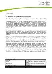 Pressemitteilung - Vario green energy Concept GmbH