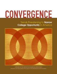 Trends Threatening to Narrow College Opportunity in America