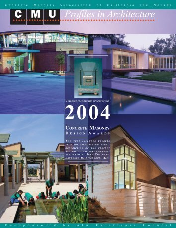 Design Awards 2004 - Concrete Masonry Association of California ...