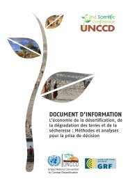 DOCUMENT D'INFORMATION - UNCCD 2nd Scientific Conference