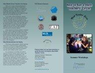 brochure - Math Teachers' Circles