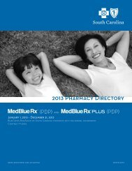 2013 Pharmacy Directory - Blue Cross and Blue Shield of South ...