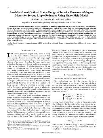 Level-Set-Based Optimal Stator Design of Interior ... - IEEE Xplore