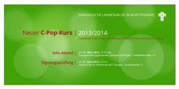 Neuer C-Pop-Kurs 2013/2014 - Amt für Kirchenmusik ...