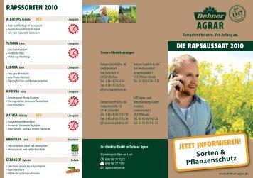 JETZT INFORMIEREN! Sorten & Pflanzenschutz