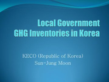 Local Government GHG Inventories in Korea [PDF: 1.2MB]