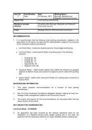 Local Parking Amendments Report PDF 97 KB
