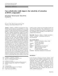 Can cyclodextrins really improve the selectivity of ... - MOKKKA.hu