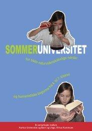 SOMMERUNIVERSITET - Aarhus Universitet