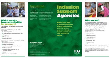 Inclusion Support Agencies - KU Children's Services