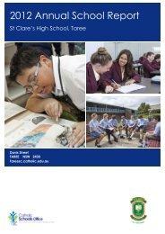 TAREE St Clare's High School (2012) - Catholic Schools Office ...