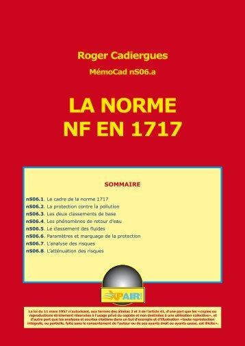 LA NORME NF EN 1717