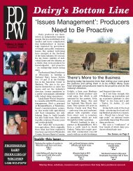 Dairy's Bottom Line - Professional Dairy Producers of Wisconsin