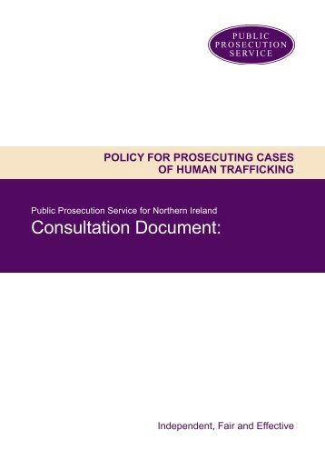 Policy on prosecuting cases of human trafficking. - Public ...