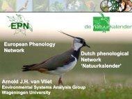 EPN and Dutch Networks, Arnold van Vliet - USA National ...