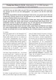 Römer 8, 31b-39 - Ispringen.elkib.de