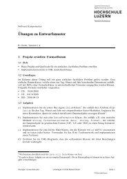 Übungen zu Entwurfsmuster - stuber.info