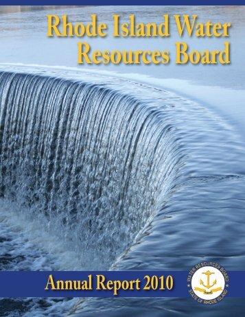 Annual Report 2010 - RI Water Resources Board