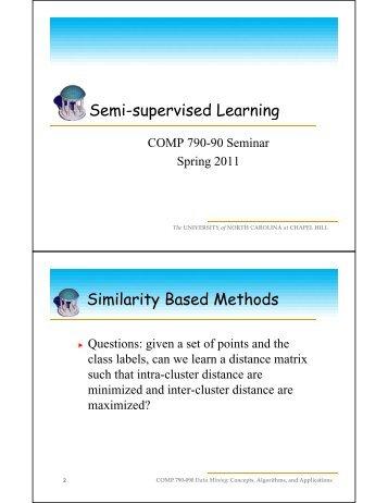 Semi supervised Learning Semi-supervised Learning Similarity ...
